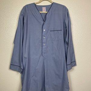 BROOKS BROTHERS Periwinkle Long Sleeve Night Shirt